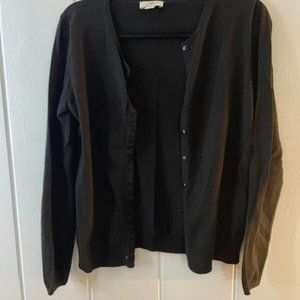 LOFT Ruffle Cardigan Sweater